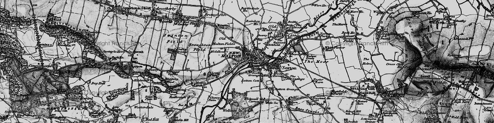 Old map of Malton in 1898