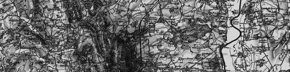 Old map of Malvern Link in 1898