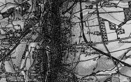Old map of Malvern Wells in 1898