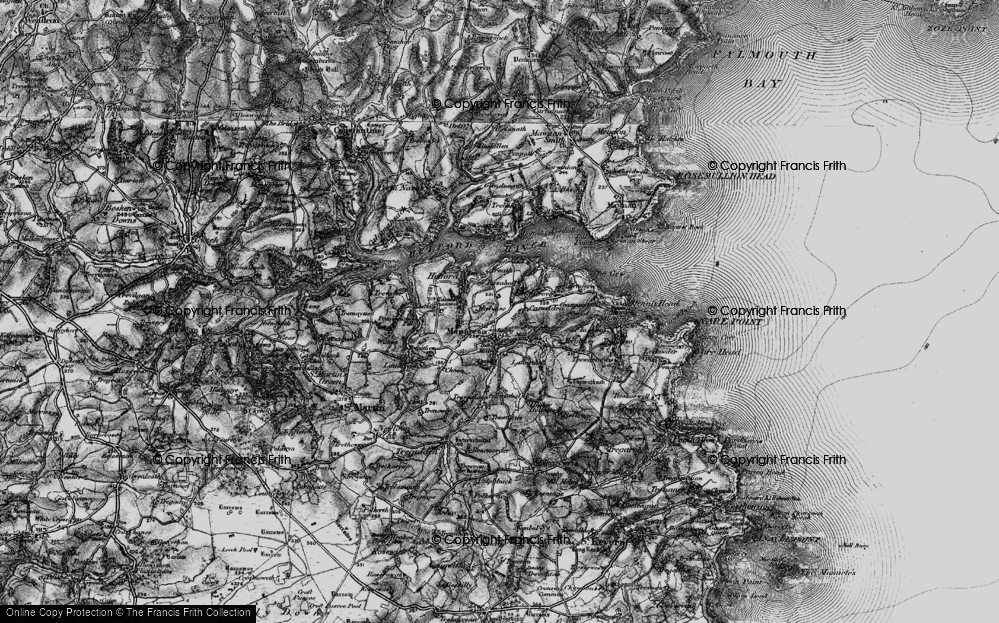 Old Map of Manaccan, 1895 in 1895