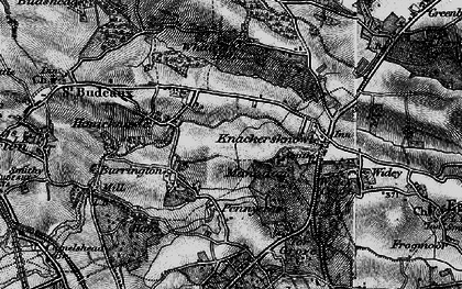 Old map of Manadon in 1896