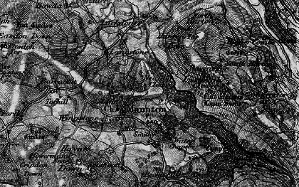 Old map of Manaton in 1898