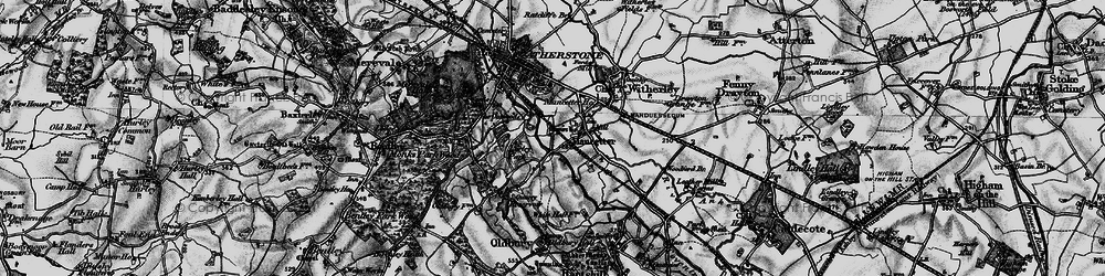 Old map of Mancetter in 1899