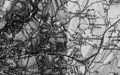 Old map of Mangotsfield in 1898