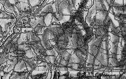 Old map of Manhay in 1895