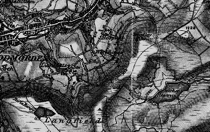 Old map of Withins Clough Reservoir in 1896