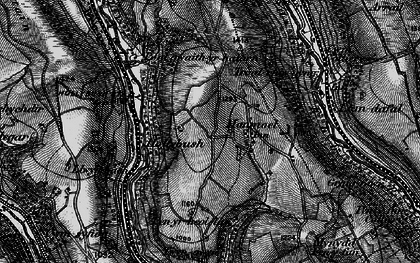 Old map of Manmoel in 1897