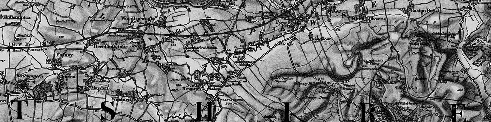 Old map of Abbots Down in 1898