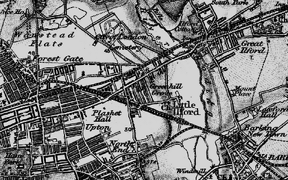 Old map of Manor Park in 1896