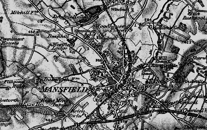 Old map of Mansfield in 1899