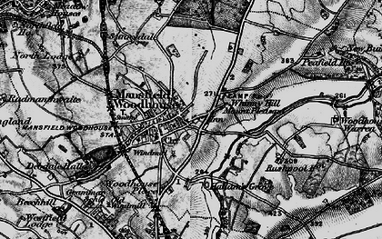 Old map of Whinney Hill in 1899