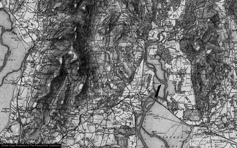 Old Map of Historic Map covering Alps, The in 1897
