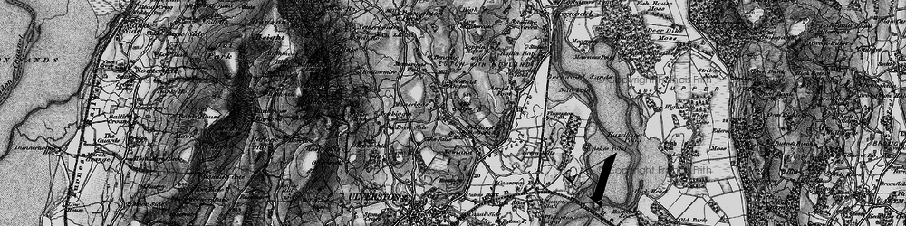 Old map of Alps, The in 1897