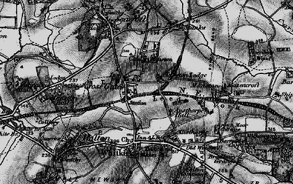 Old map of Austhorpe Hall in 1898