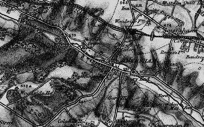 Old map of Mantles Green in 1896