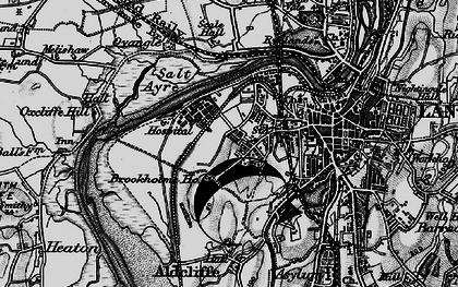 Old map of Abraham Heights in 1898