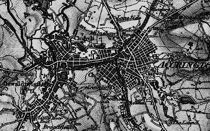 Old map of Accrington in 1896
