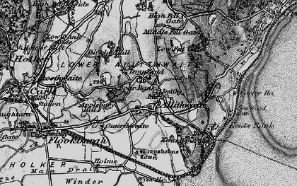 Old map of Allithwaite in 1898