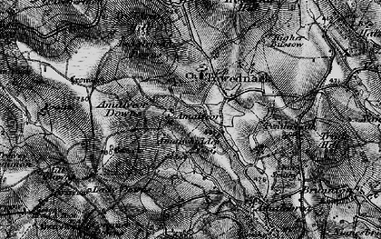 Old map of Amalveor in 1896
