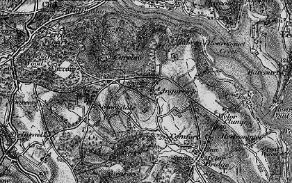 Old map of Angarrick in 1895