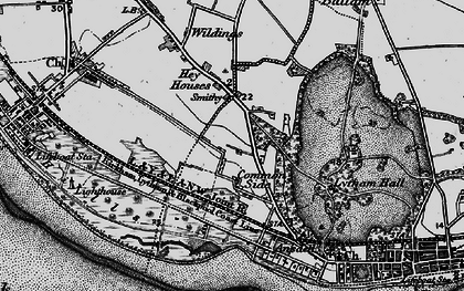 Old map of Ansdell in 1896