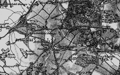 Old map of Arborfield Cross in 1895