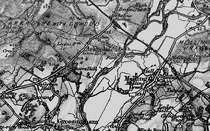 Old map of Arkholme in 1898