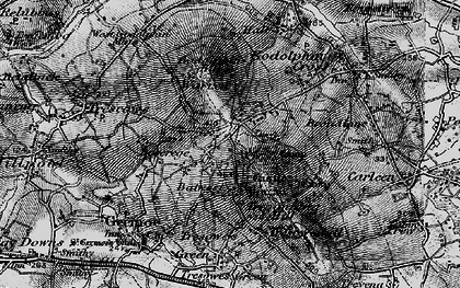 Old map of Balwest in 1895