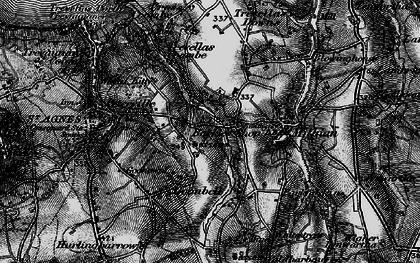 Old map of Barkla Shop in 1895