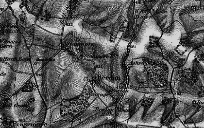 Old map of Beedon in 1895