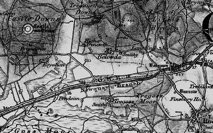 Old map of Belowda in 1895