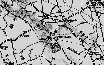 Old map of Bickerstaffe in 1896