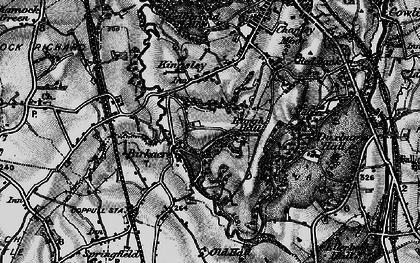 Old map of Birkacre in 1896
