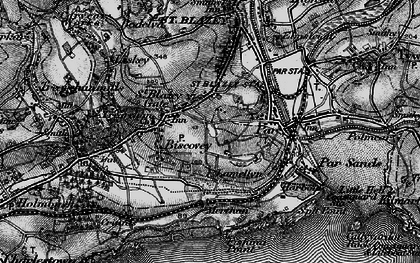 Old map of Biscovey in 1895