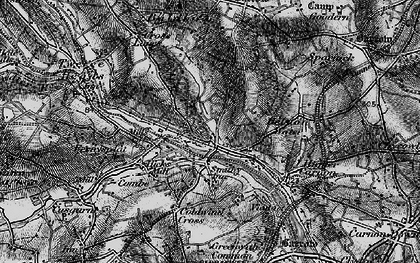 Old map of Bissoe in 1895