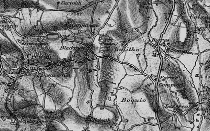 Old map of Black Rock in 1896