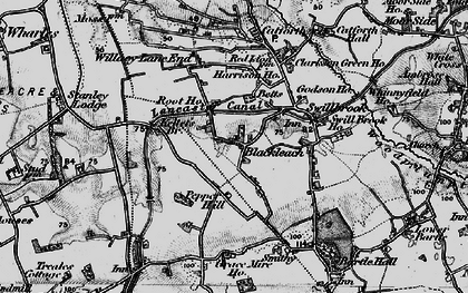 Old map of Blackleach in 1896
