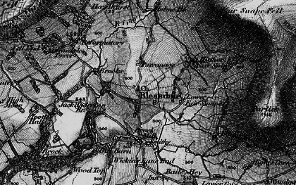 Old map of Bleasdale in 1896