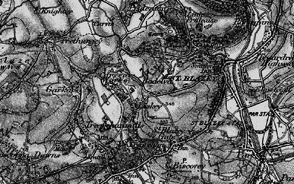 Old map of Bodelva in 1895