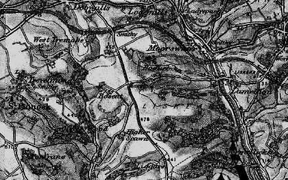 Old map of Boduel in 1896