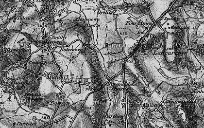 Old map of Bolenowe in 1896
