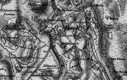 Old map of Bolventor in 1895