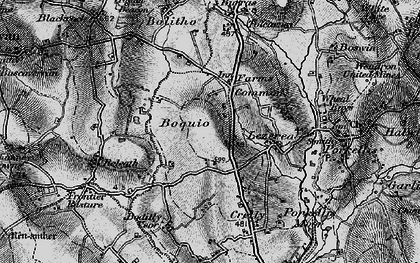 Old map of Boquio in 1895