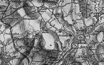 Old map of Boscadjack in 1895