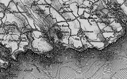 Old map of Boskenna in 1895