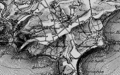 Old map of Boswinger in 1895