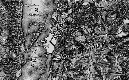 Old map of Bowness-On-Windermere in 1897
