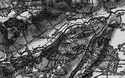 Old map of Bradfield in 1895