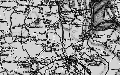 Old map of Breedy Butts in 1896