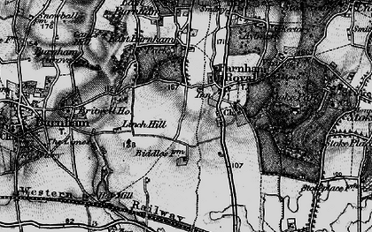 Old map of Britwell in 1896